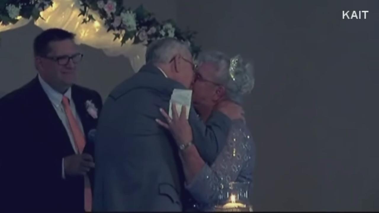 High school sweethearts marry