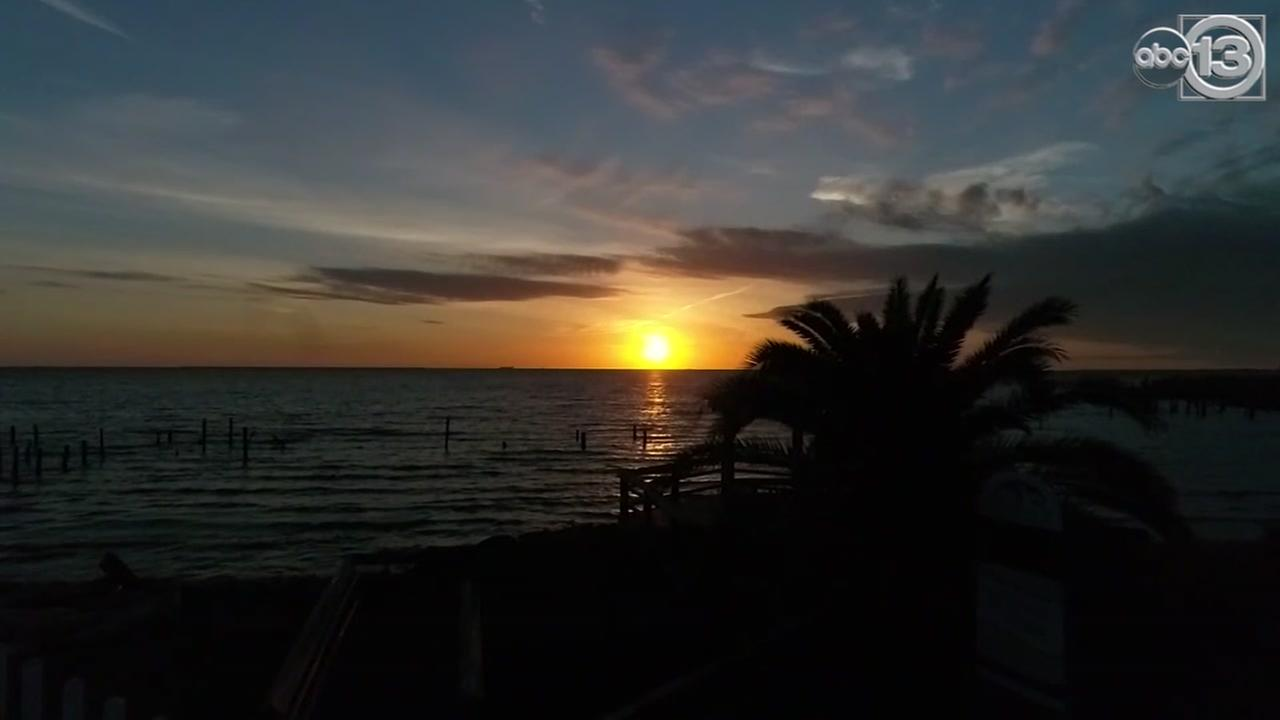 SkyDrone13 gets amazing view of the sunrise in Seabrook, TX