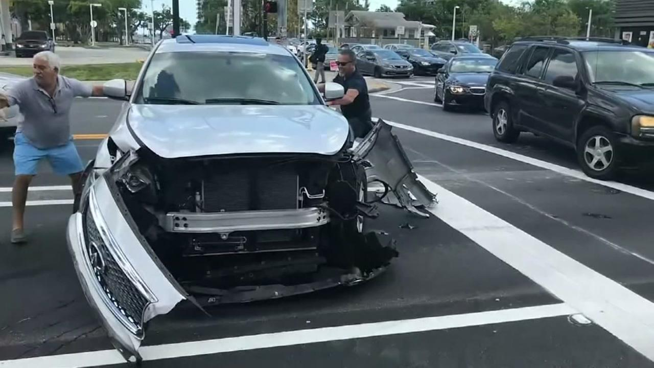Cellphone video captures hit and run crash