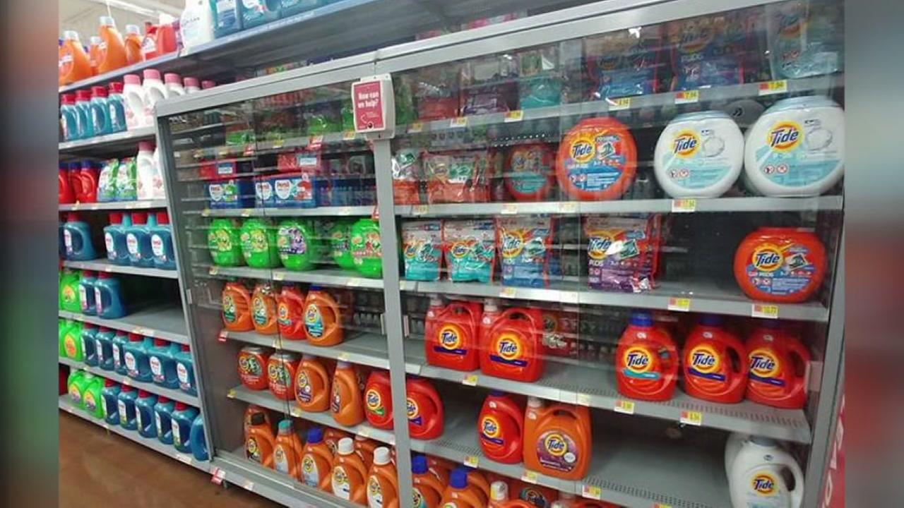 Walmart store locks up laundry detergent pods after viral challenge