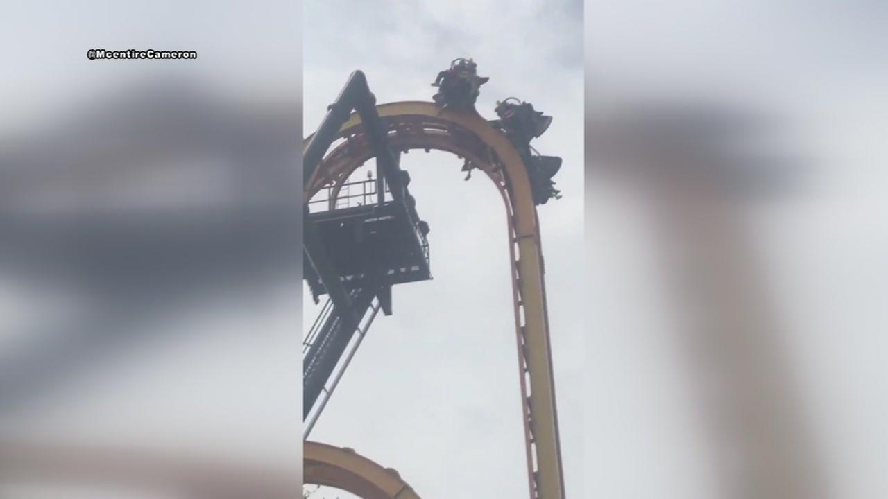 Riders get stuck on Batman ride at Six Flags Fiesta Texas