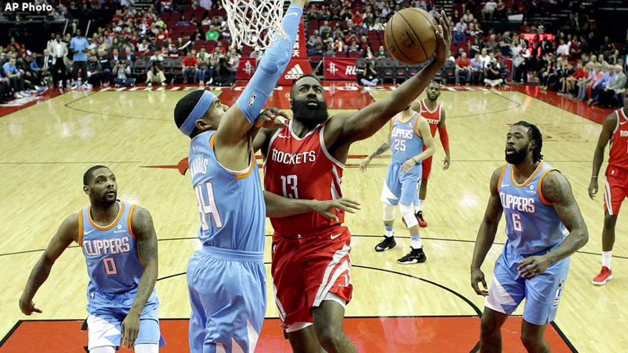 Harden helps Rockets over Clippers 101-96
