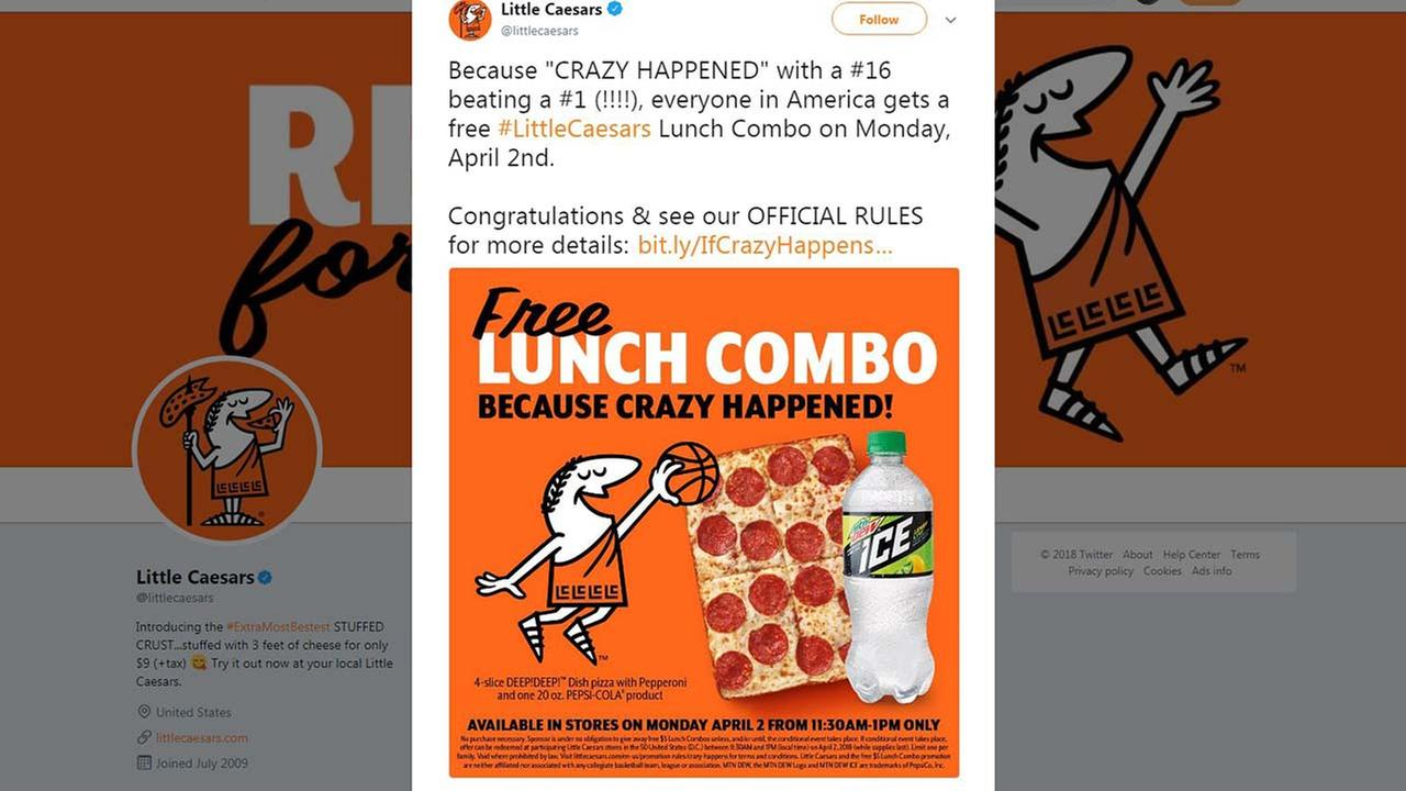Free lunch combos from Little Caesars