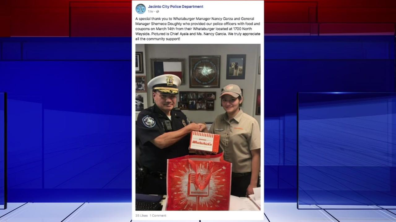 Whataburger manager provides for local PD