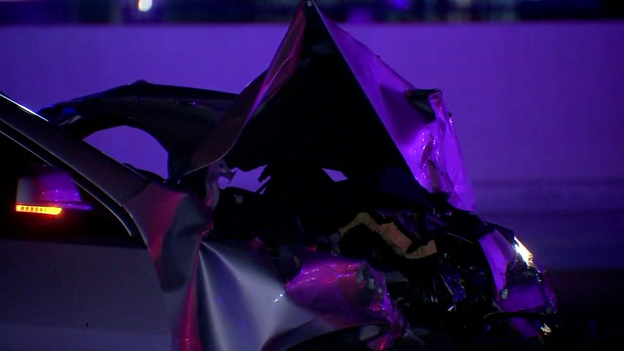 Suspected drunk driver slams into officer car