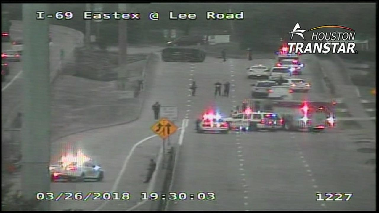 Rollover crash kills at least 1 on Eastex Fwy
