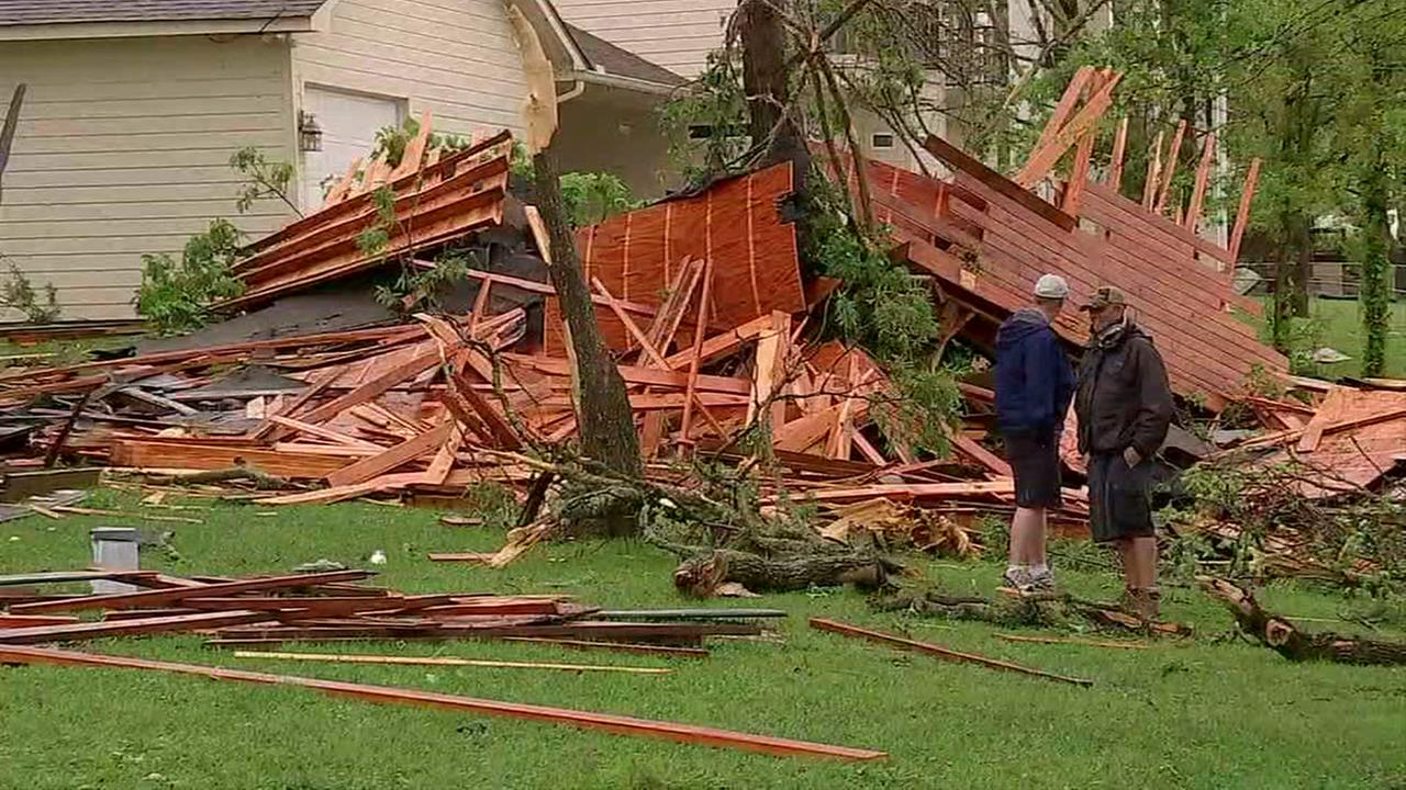 Storms damage home just restored after Harvey