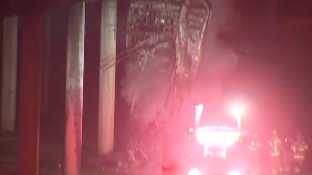 FedEx driver killed after semi-truck plunges off bridge