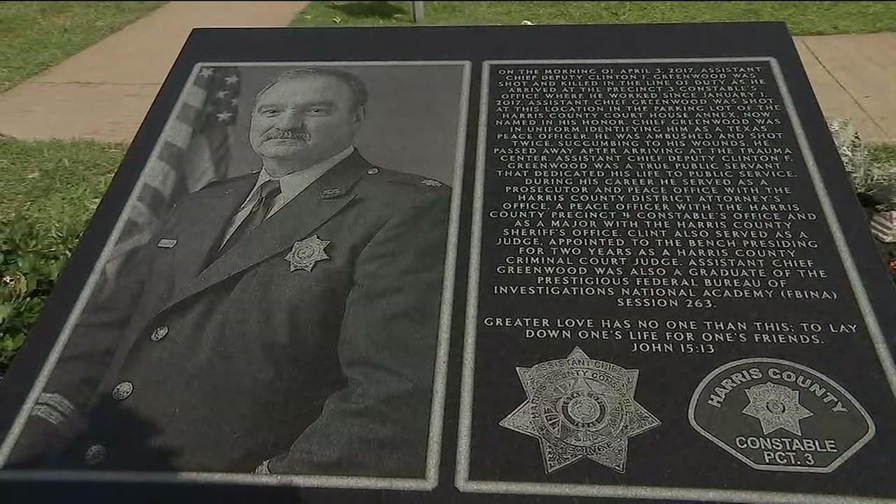 Memorial unveiled for Assistant Chief Deputy Clint Greenwood