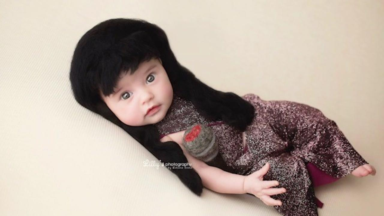 The babys Selena-themed photo shoot will melt your heart