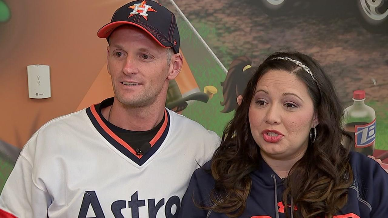 Married couple talks about Astros game