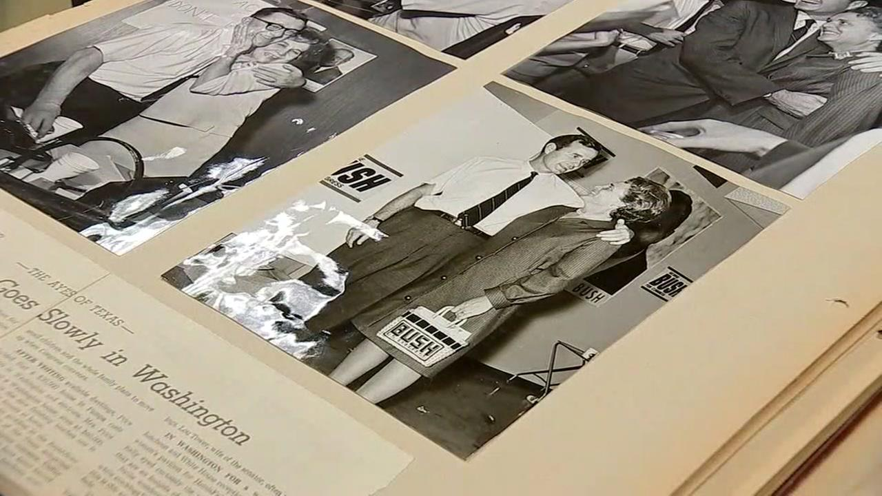 Barbara Bushs scrapbooks offer insight into history of her family life