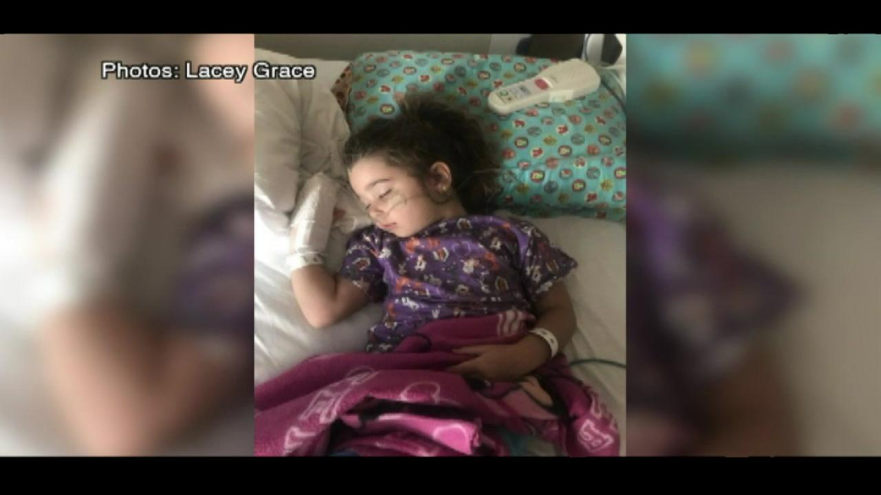 Girl suffers serious illness due to dry drowning