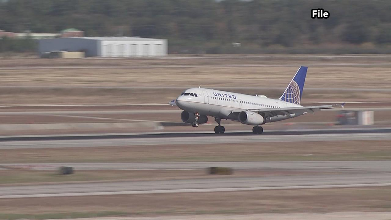 A United Airlines jet had to return to Bush airport after a bird-strike