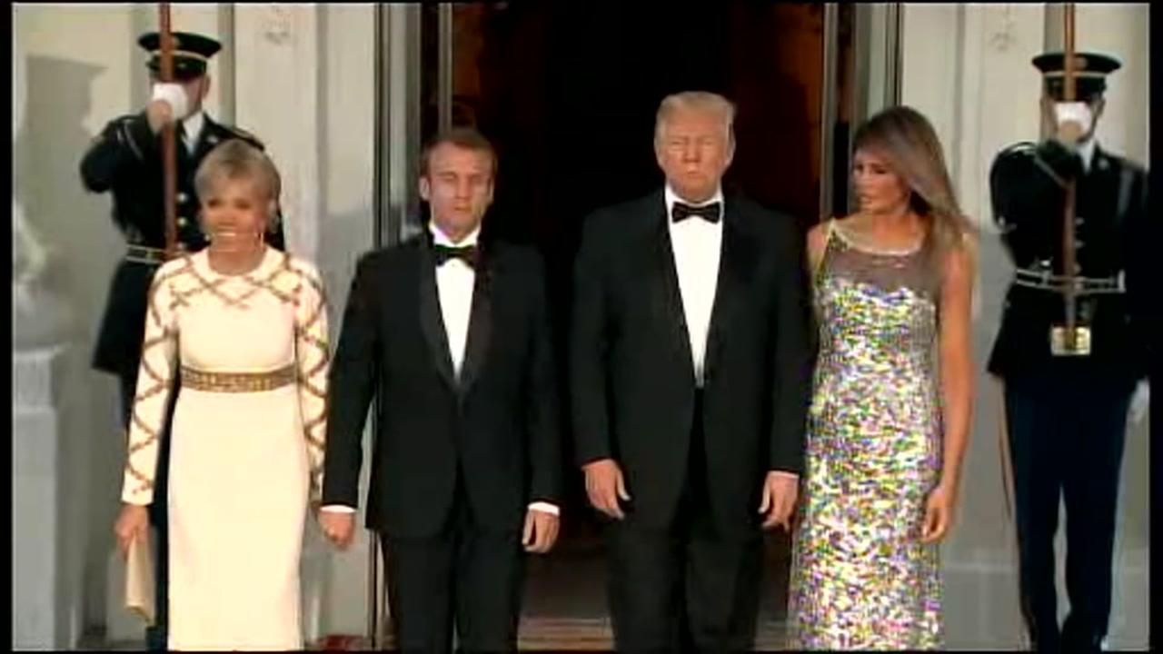 Guests dazzle in gowns for Pres. Trumps first state dinner at White House