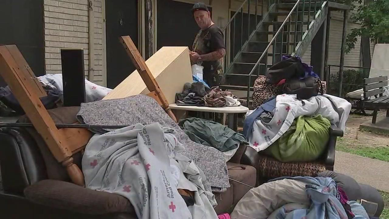 Harvey victims evicted