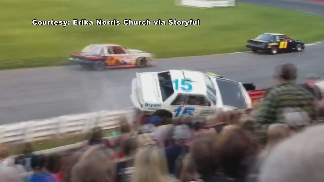 Race car off track