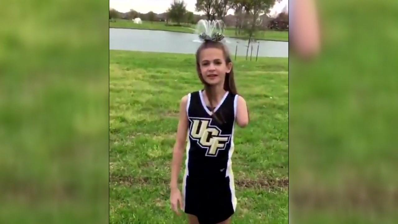 Houston-area cheerleader inspried by Shaquem Griffin