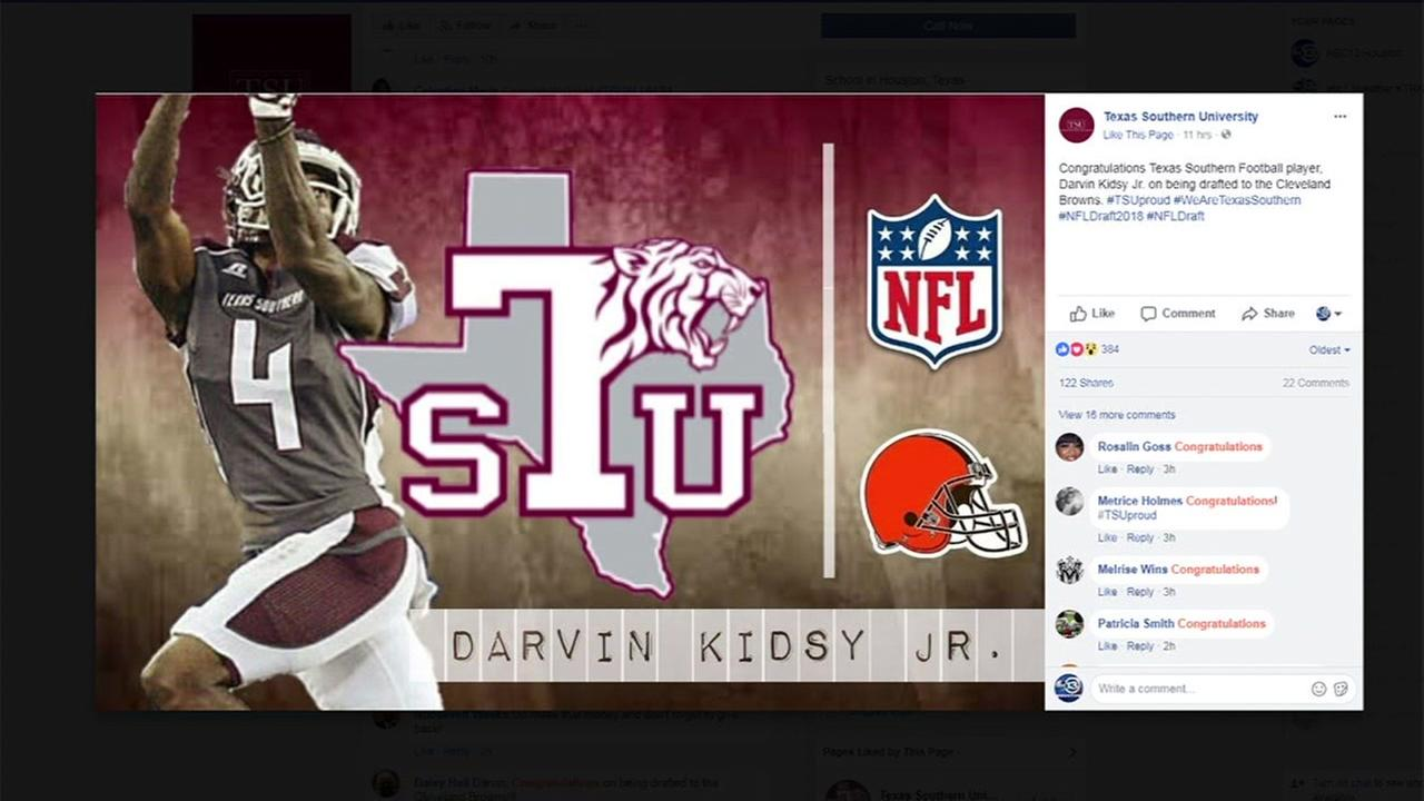 Texas Southerns Darvin Kidsy Jr. gets picked up by Browns