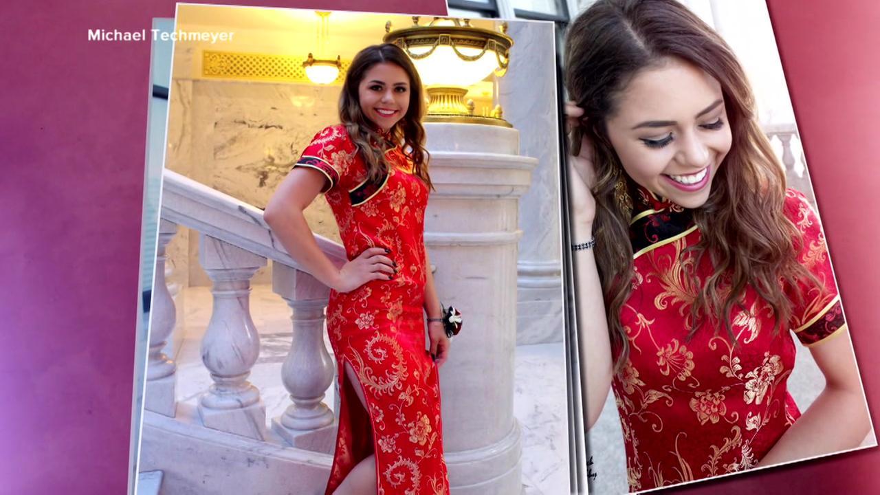 Teens prom dress choice causes uproar