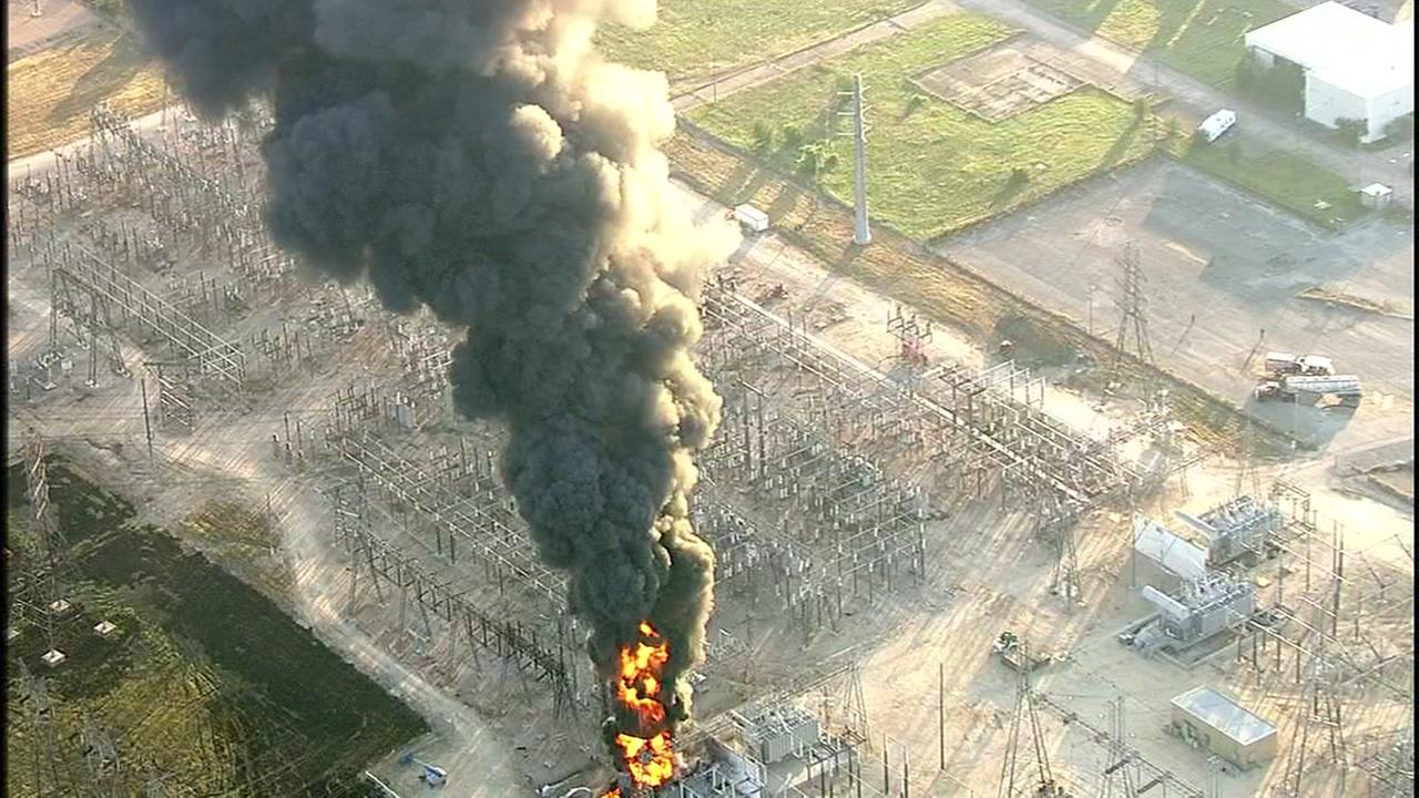 Fire reignites at facility in Texas City