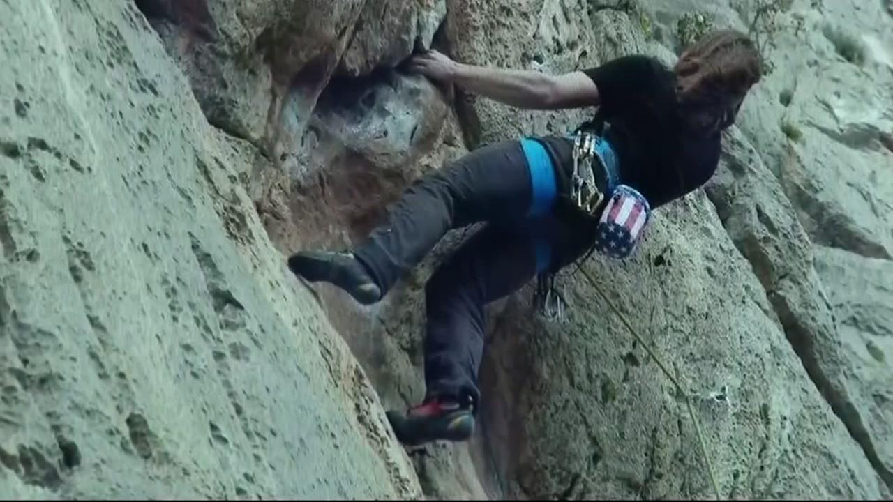 Rock climber survives 50 foot fall