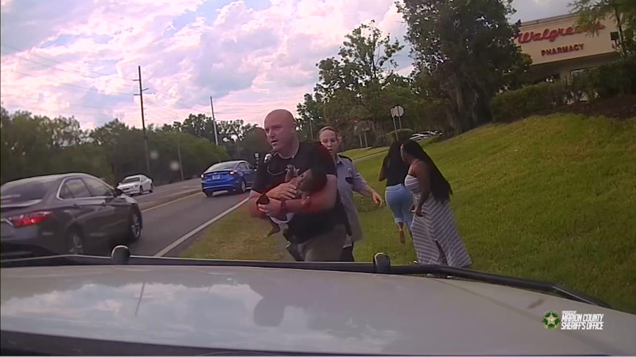 Dashcam video shows deputy saving baby
