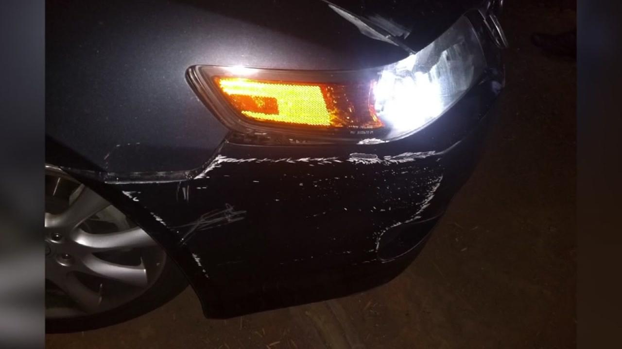 Uber driver wrecks car after being attacked by passengers, suspects get away