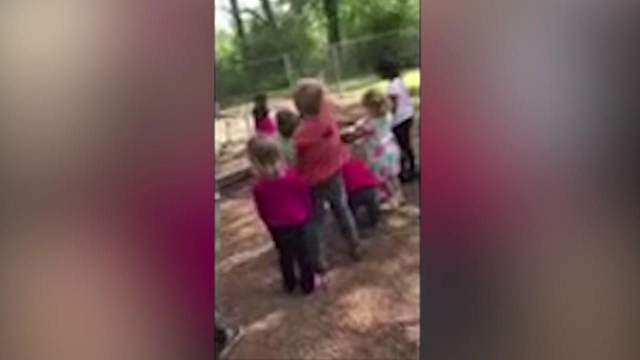 An Arkansas teacher is accused of telling kids at school to throw rocks at a child.