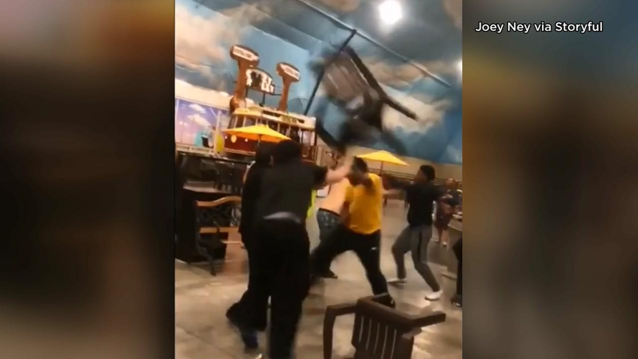 Huge fight breaks out at Wisconsin resort