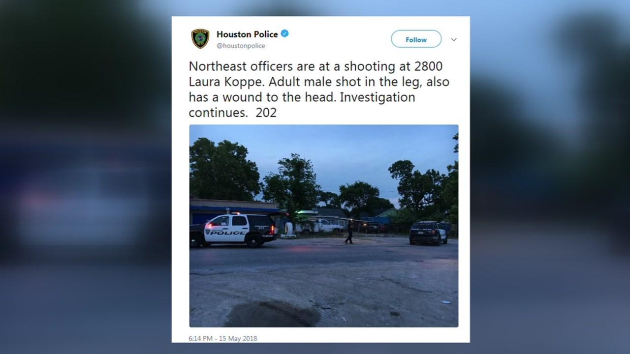 Man shot in the leg in NE Houston