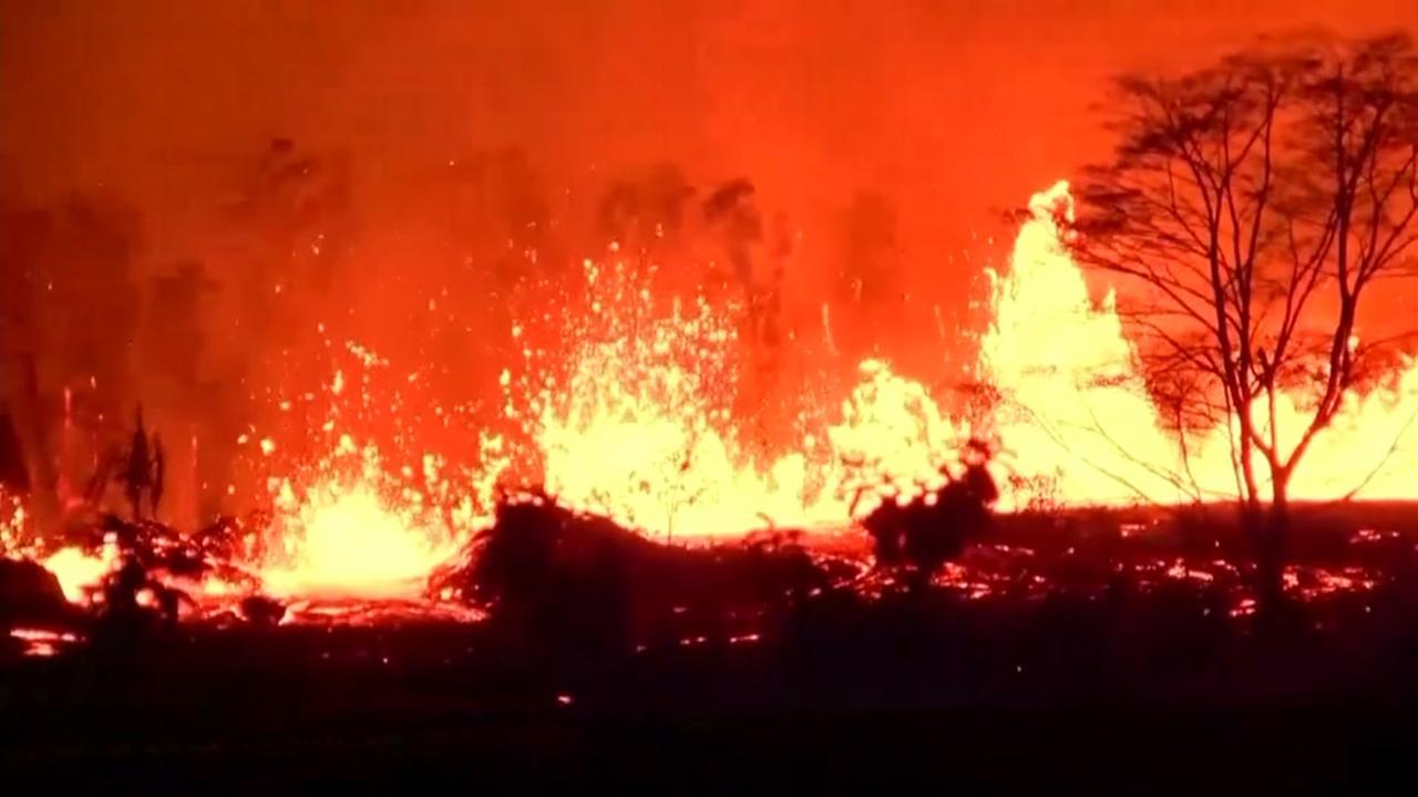 Man innjured by lava bomb