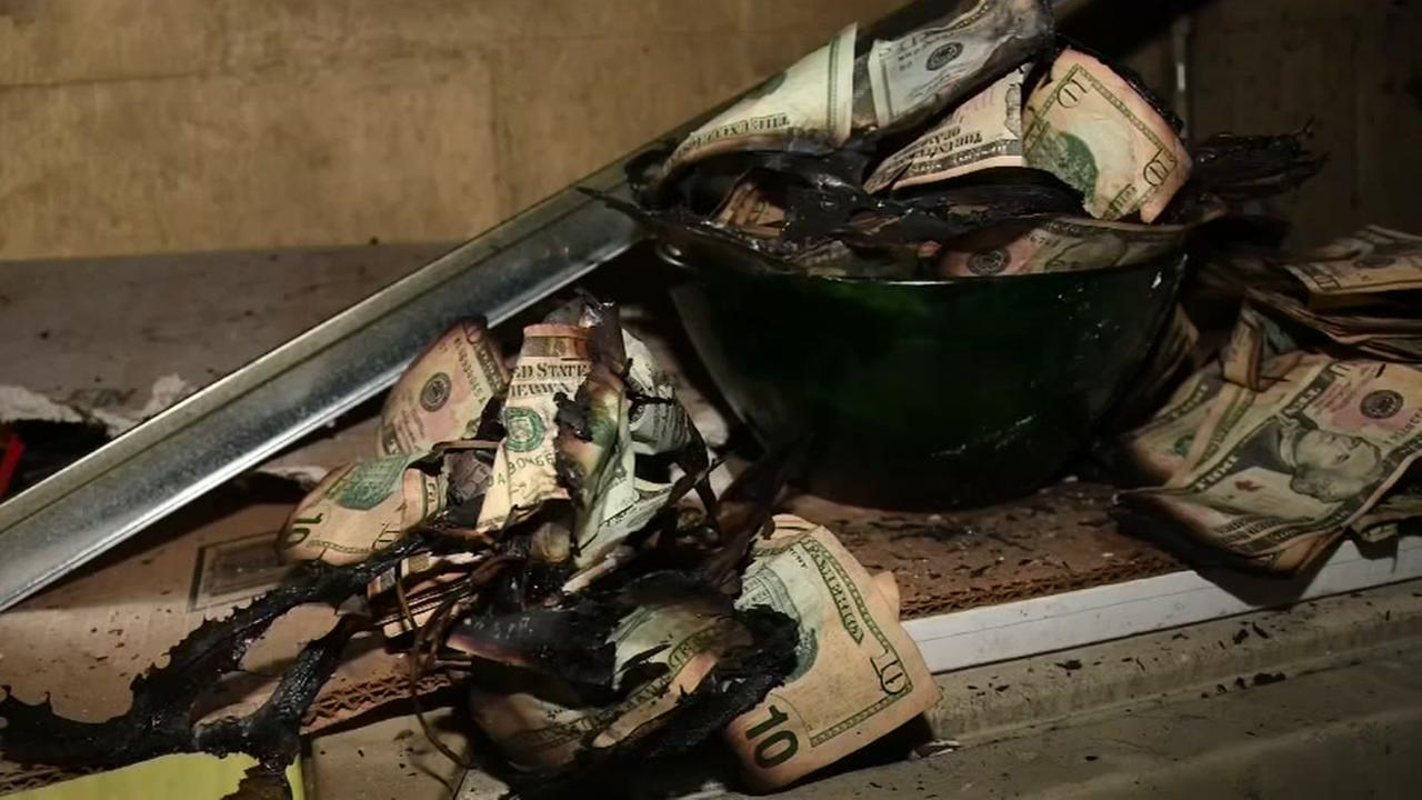 Money found after house fire