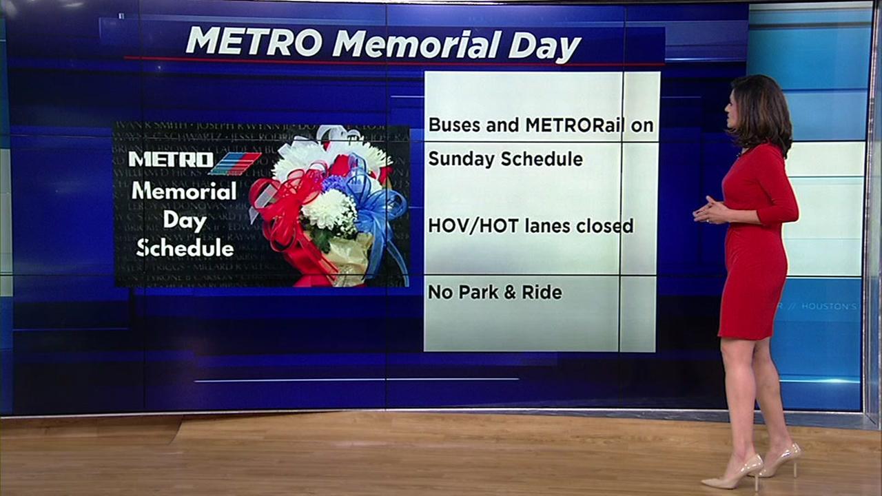 Memorial Day weekend closures
