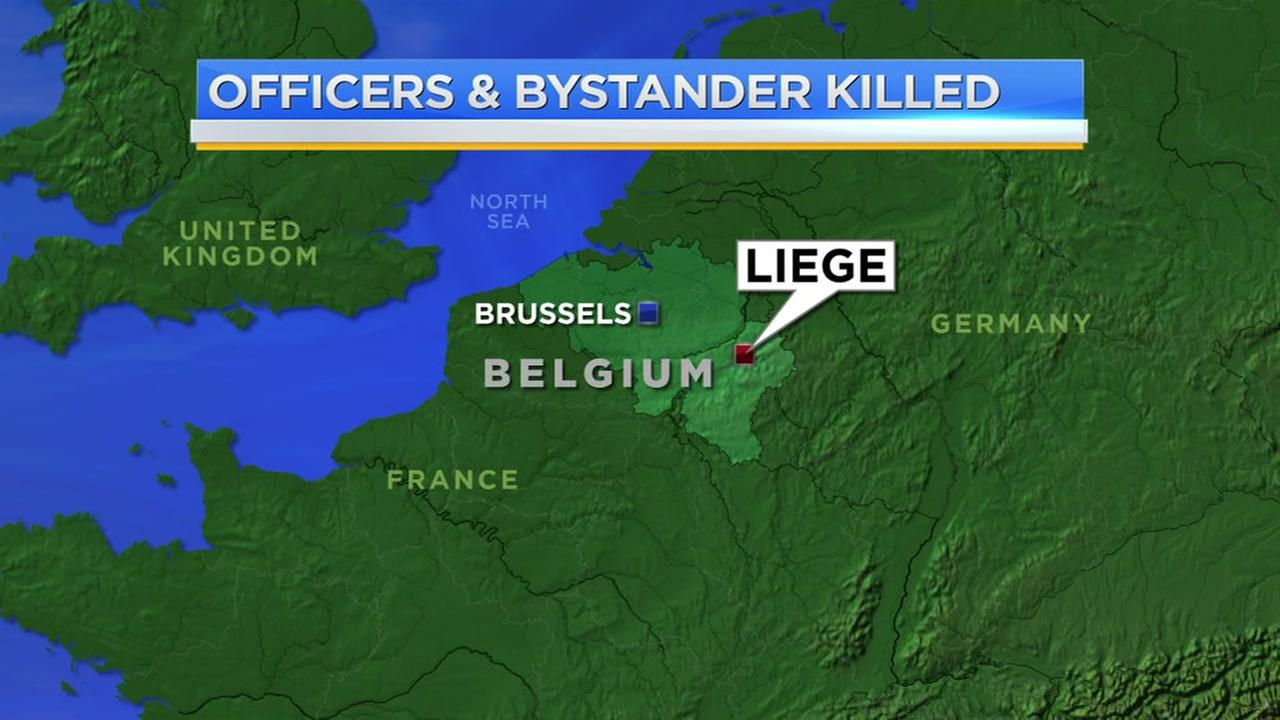 Attacker in Belgium disarmed police and used their weapons in a shooting rampage