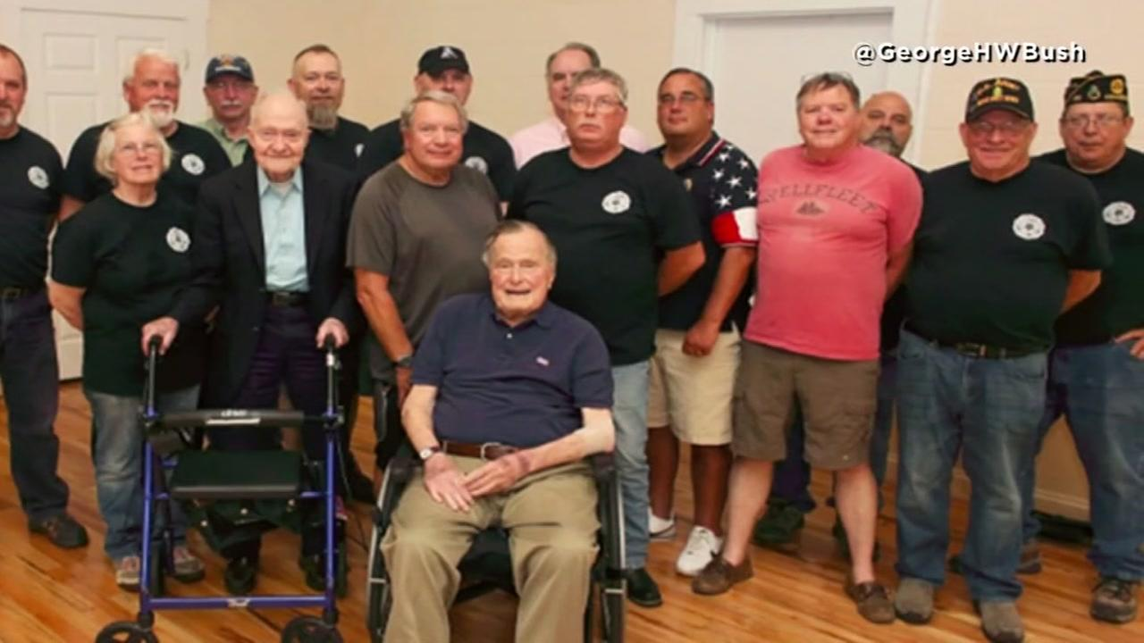 President George H.W. Bush recovering in hospital
