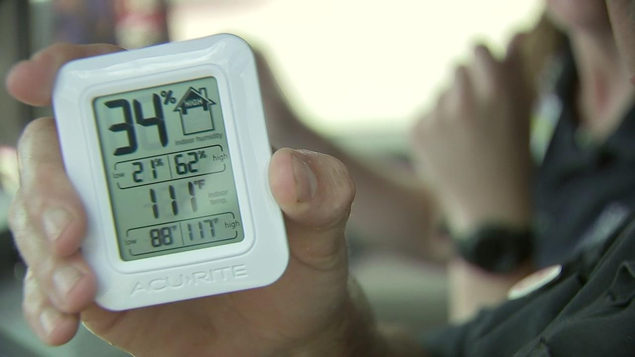 First responders conduct hot car challenge to demonstrate how quickly vehicles heat up