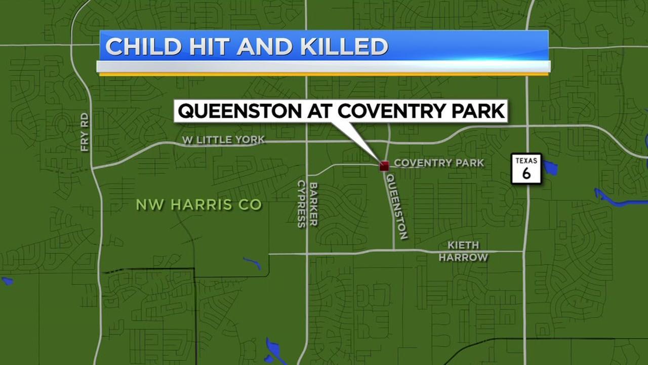 Child struck and killed in northwest Houston