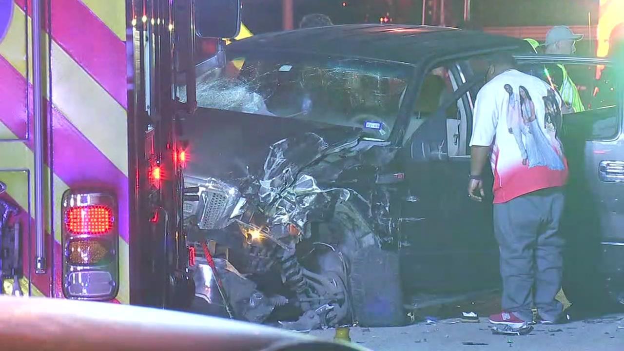 Teens crash vehicle in Crosby