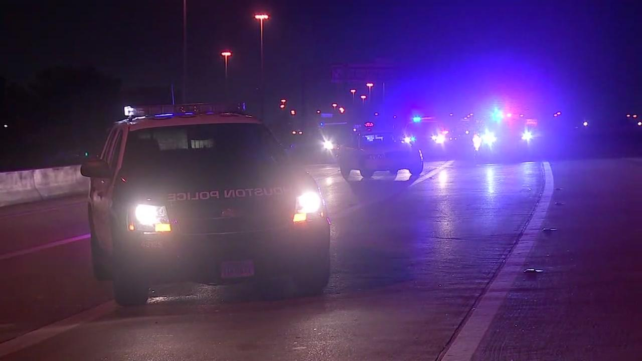 Naked man struck by car on freeway ramp