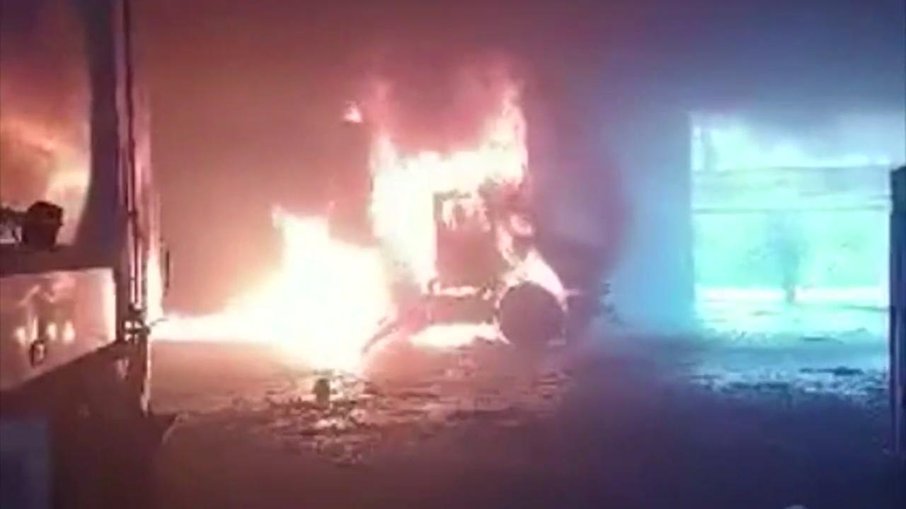 1 injured when trailer catches fire at recycling center