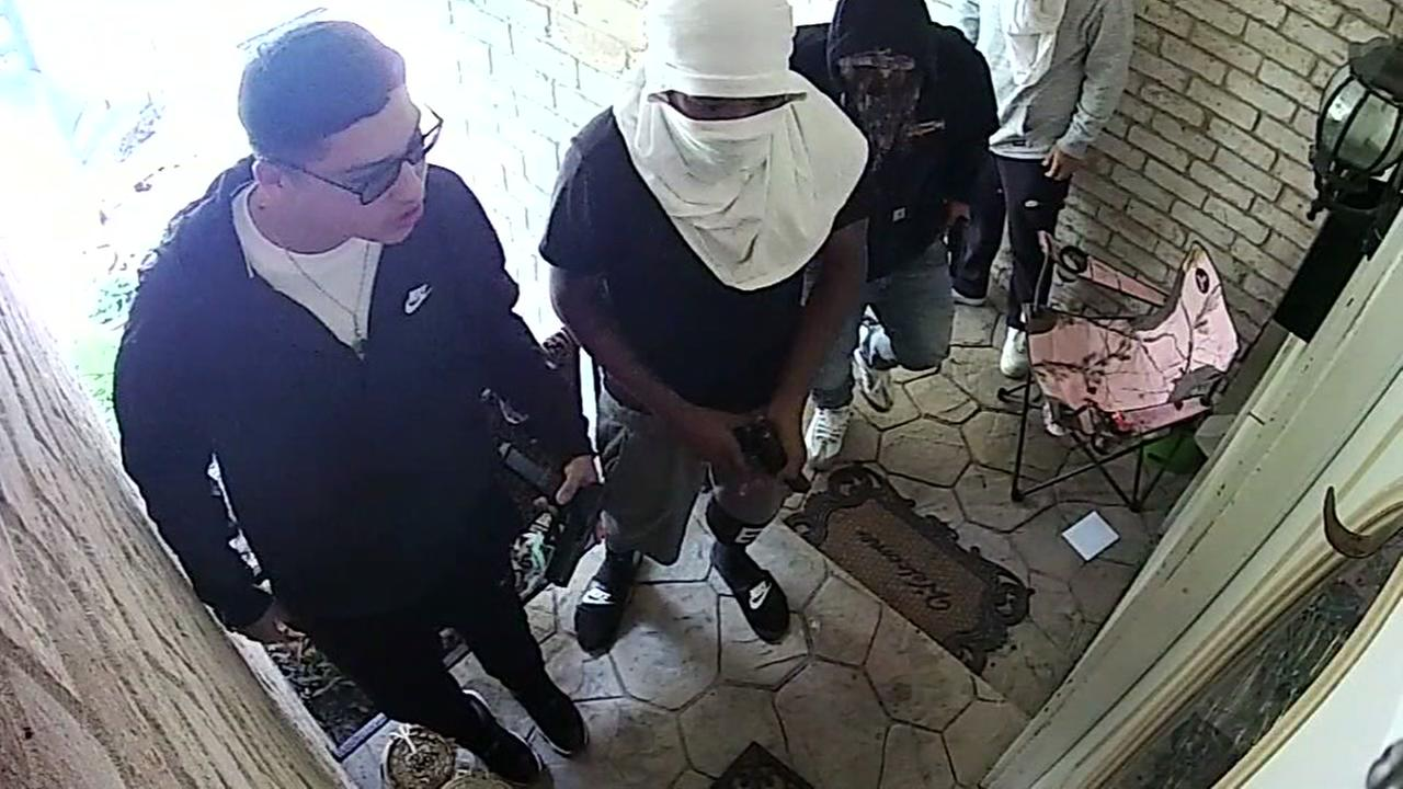 Armed burglary caught on tape at rental home