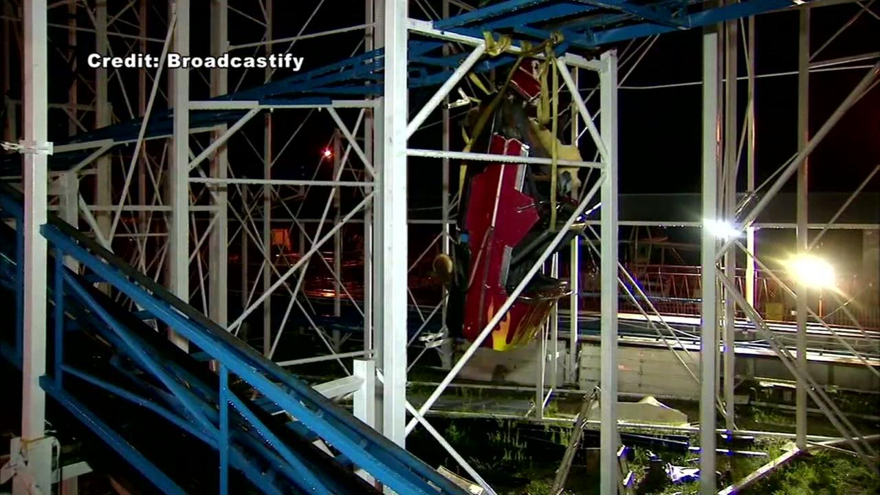 Daytona Beach firefighters rescue riders after roller coaster derails
