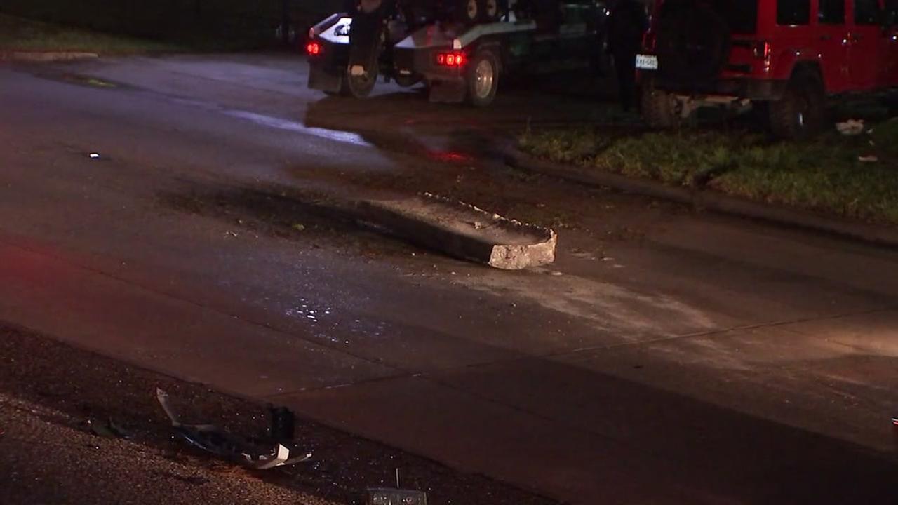 Man killed in concrete barrier crash