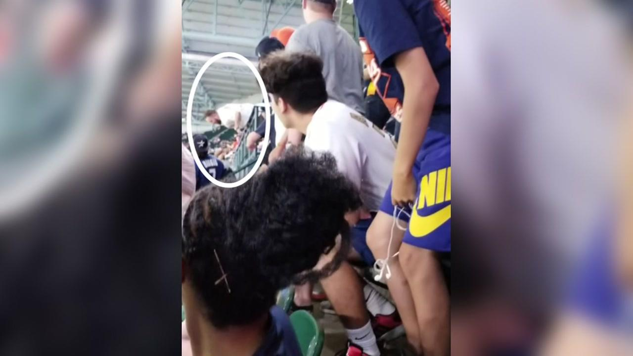 Fans flips over at Astros game