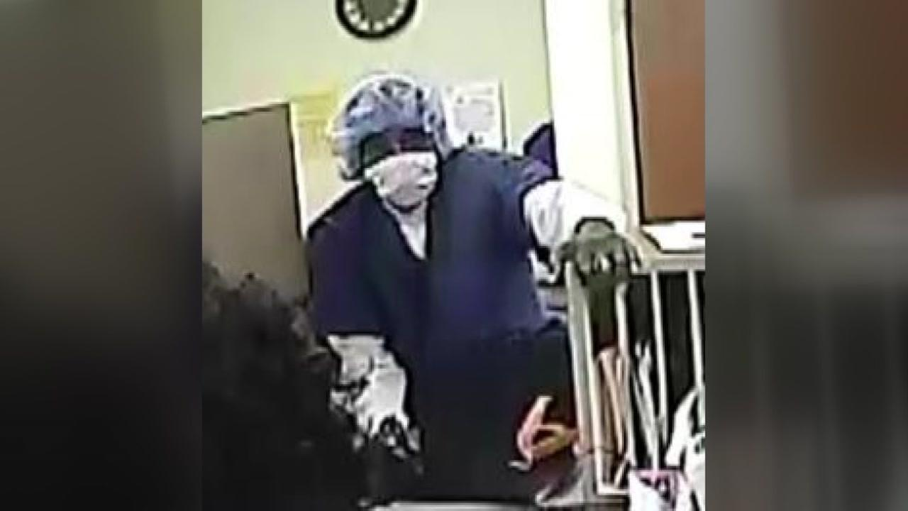 The FBI is searching for bank robbery suspects dressed in scrubs