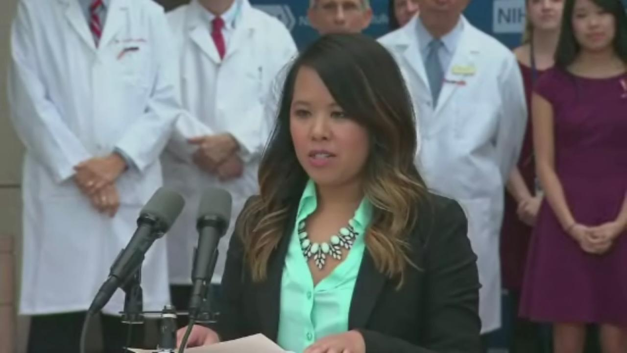 Nina Pham makes statement after leaving hospital