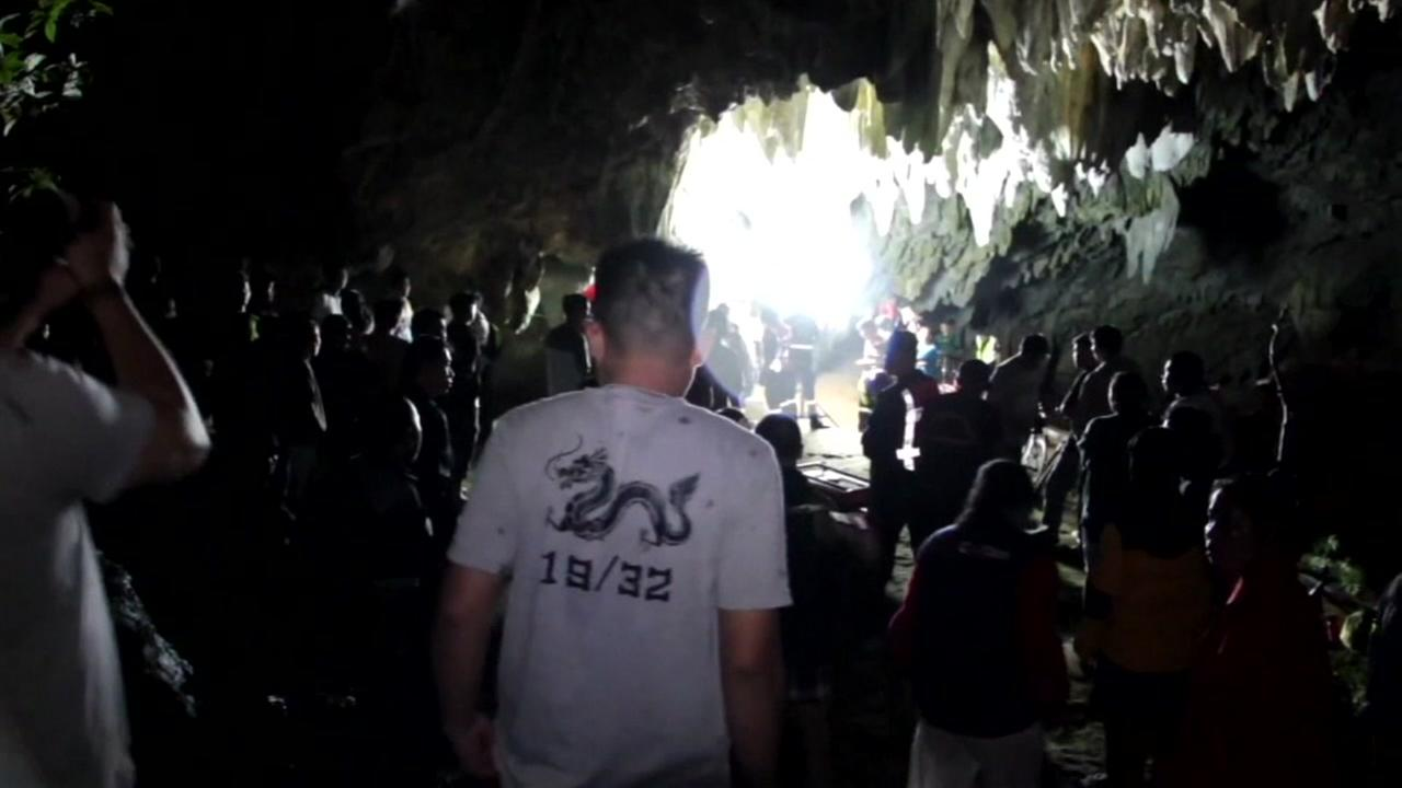 12 boys and soccer coach missing in Thailand cave