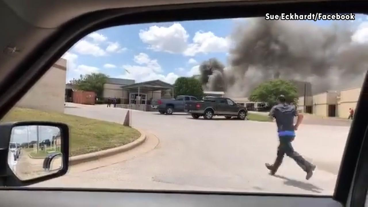 Eyewitness video shows aftermath of Texas hospital explosion