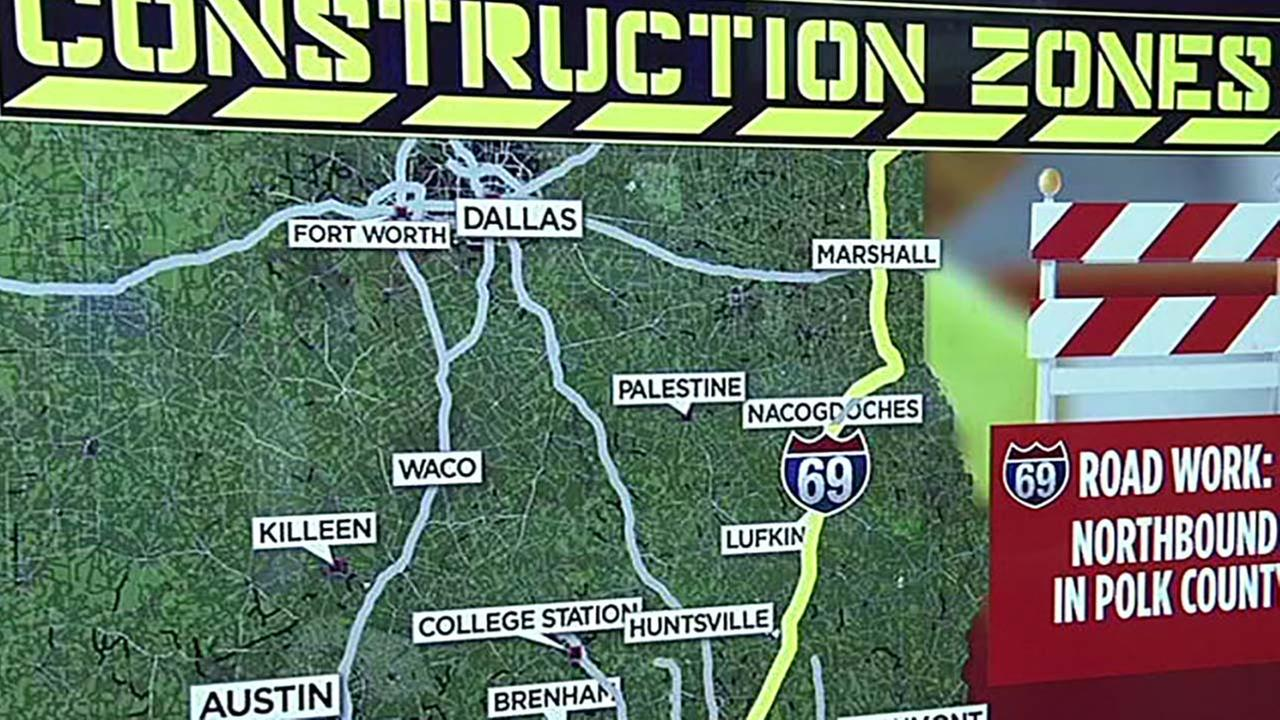 Construction zones across Texas